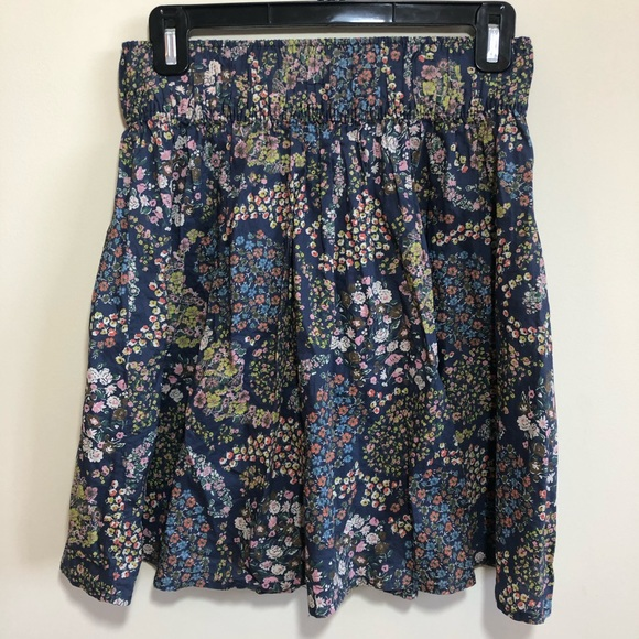 H&M | Cotton Floral Pleated Skirt Sz Small